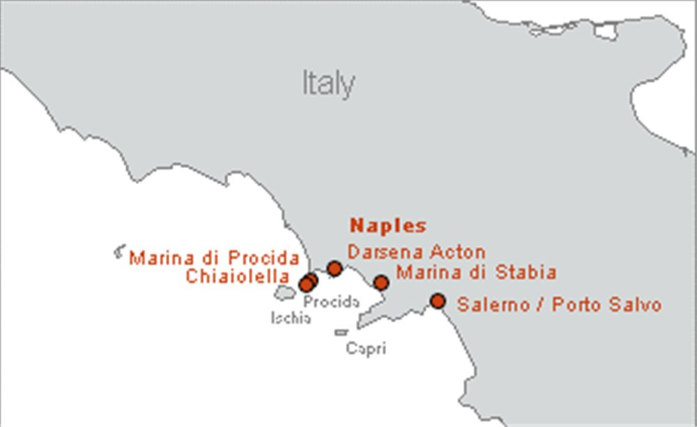 Naples yacht charter bases