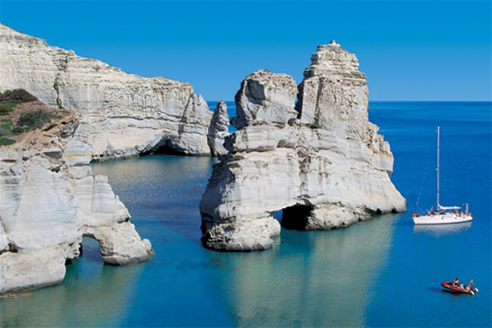 Milos - Visit on your yacht charter vacation with OceanBLUE Yachts Ltd.