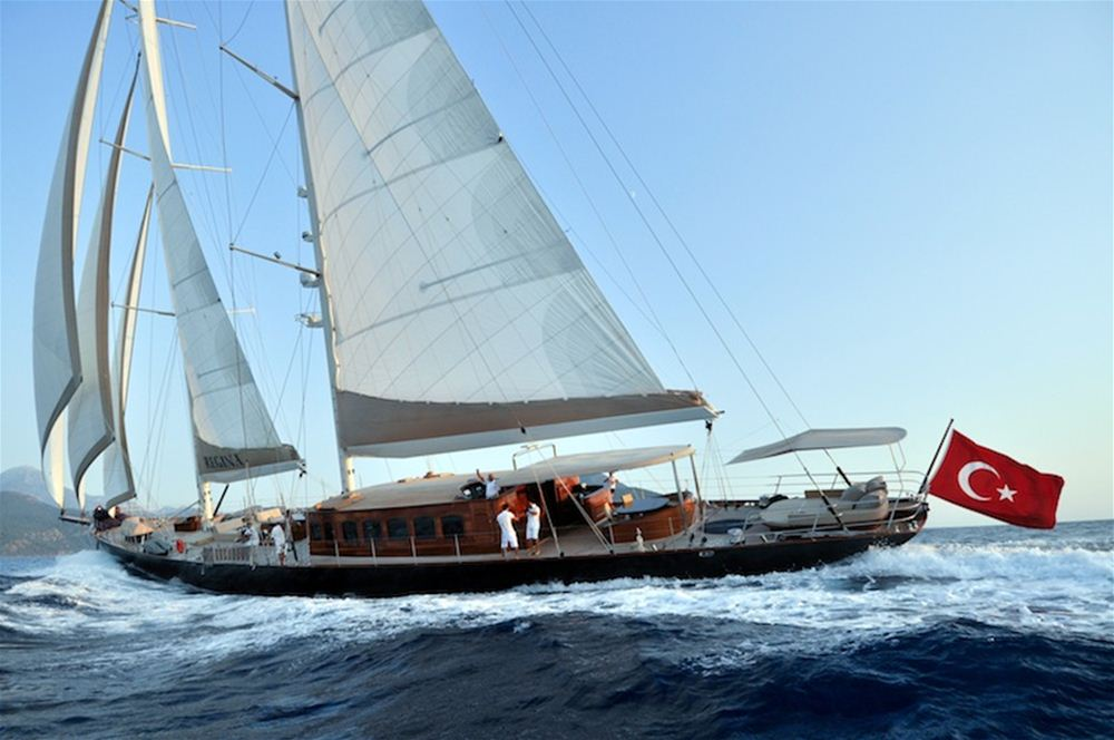 luxury classic sailing yacht for charter Caribbean