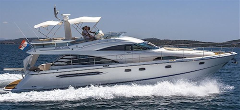 Luxury Motor yacht charter, with crew, for 6 guests. Croatia