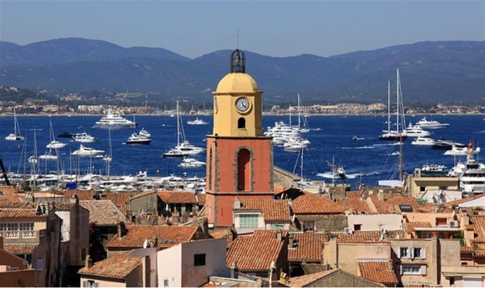 Charter yachts anchored off St Tropez