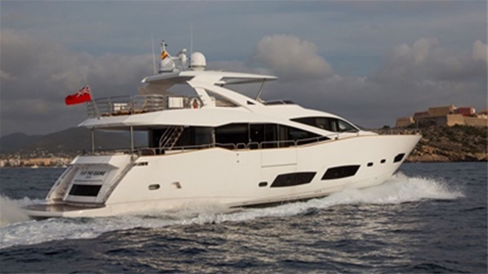 28m Sunseeker, with crew, for charter from IBIZA, MALLORCA, BALEARICS