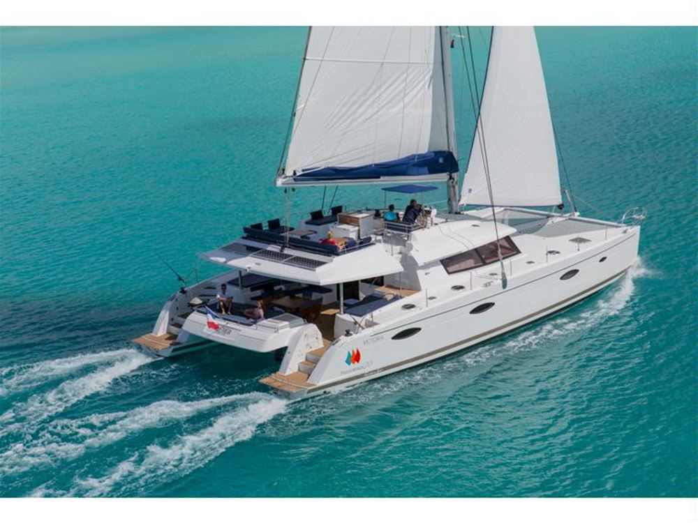 Luxury fullly crewed catamaran for charter in the Balearic islands, Mallorca, Ibiza, Menorca, Caribbean, BVI