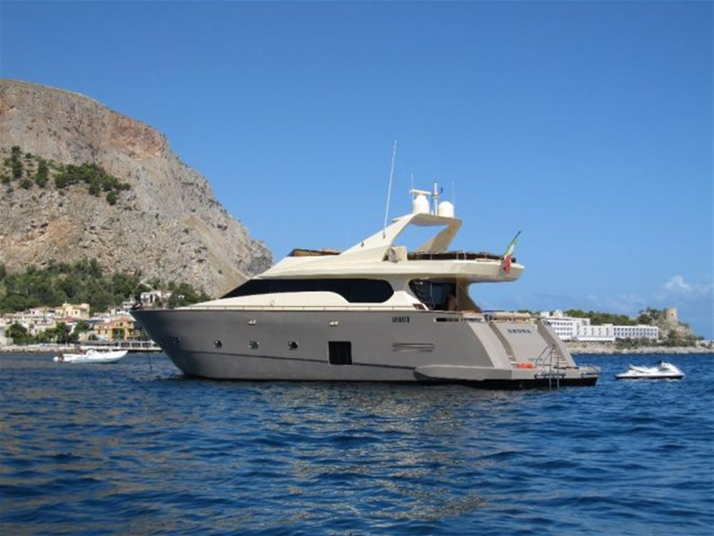 Luxury Motor yacht, with crew, for charter from Palermo, Sicily