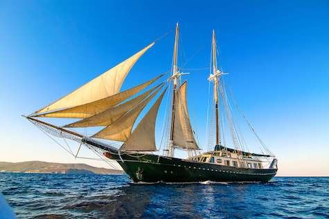 Luxury Motorsailer for charter with Crew in Greece, - better than a gulet !