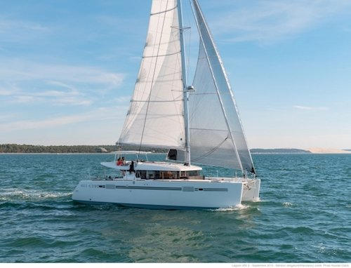Crewed catamaran ideal for family charter in Greece