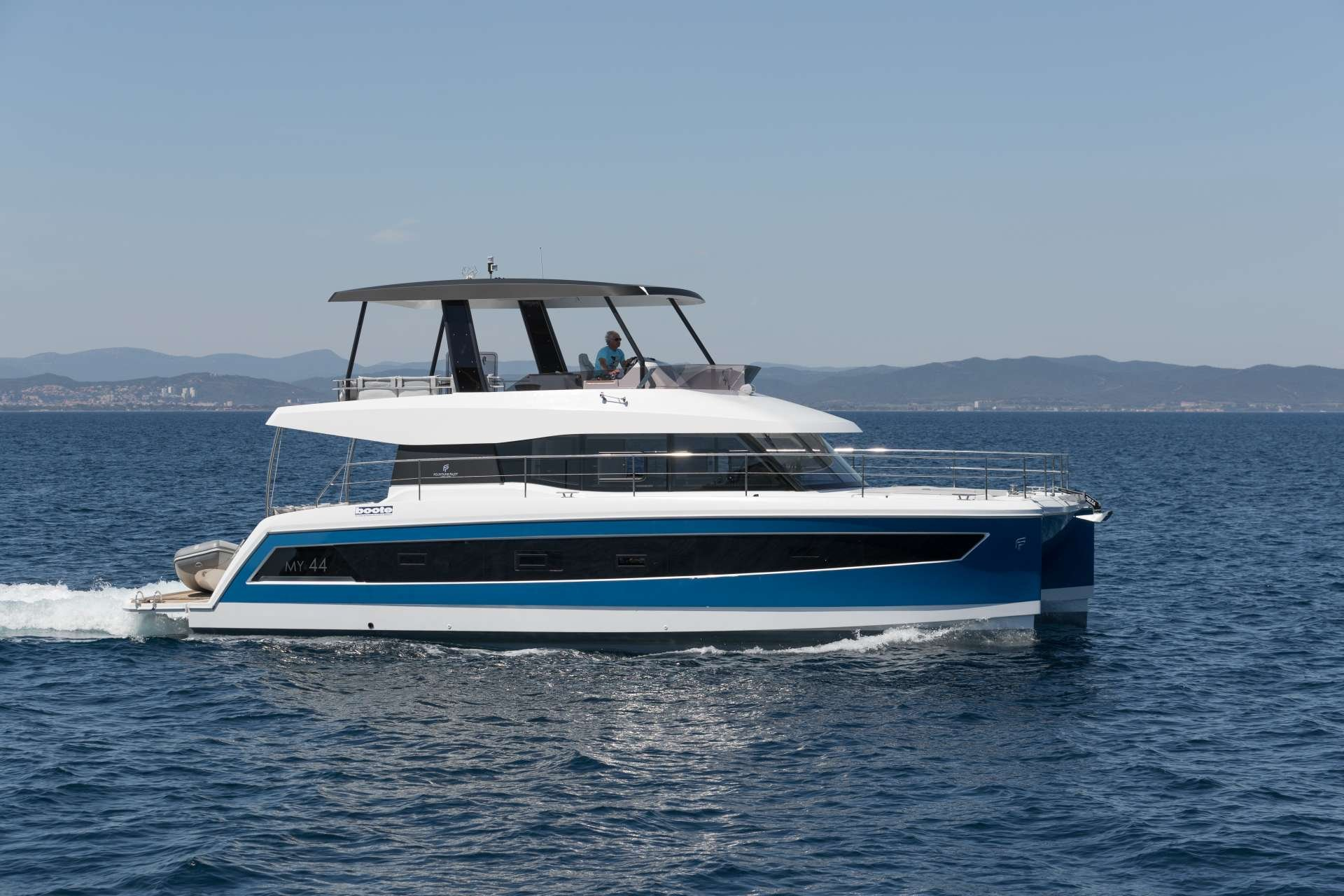 Power catamaran crewed charter in Greece and the Greek Islands