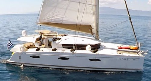Crewed luxury catamaran charter for 8 guests in Greece