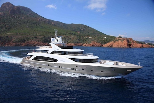 Megayacht for charter, 12 guests, Eastern & western Med