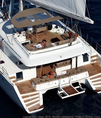 Luxury catamaran with crew for 6, for charter Aeolian islands, Sicily