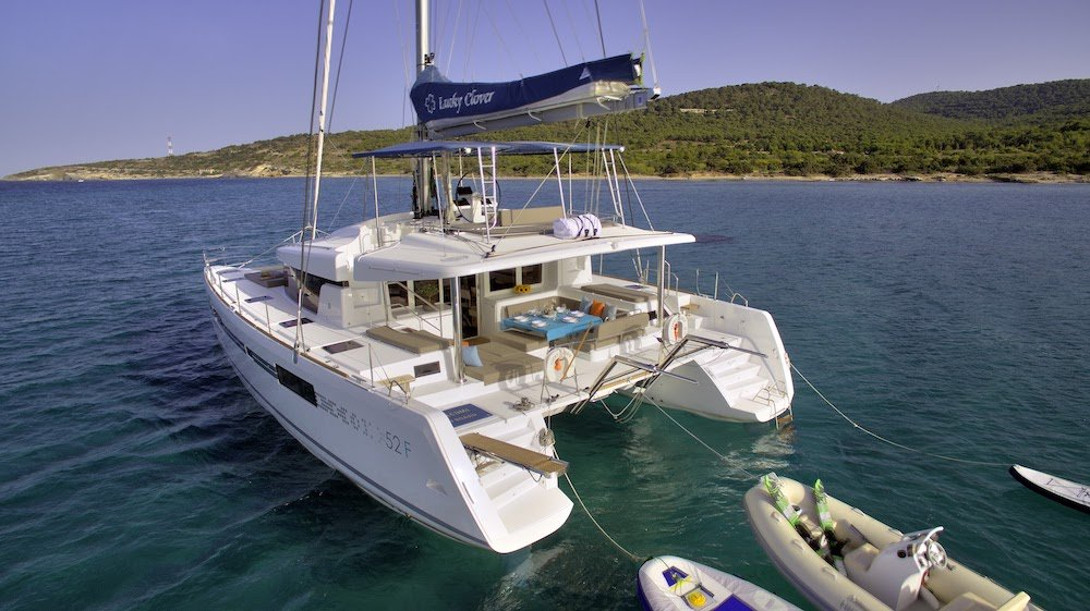 New model lagoon 52 for weekly rental with crew in Greece, up to 12 guests