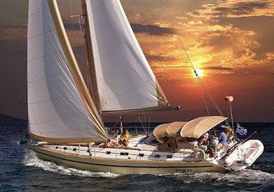 Mythos, economical sailing yacht with crew for charter Greece