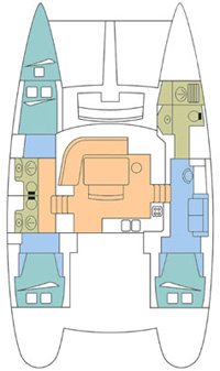 Lagoon 440 Catamaran owners version for charter